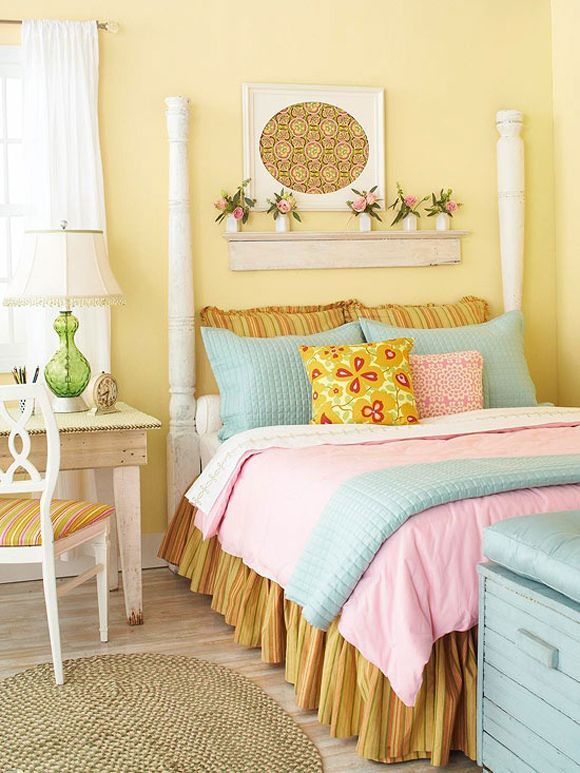 Girls Bedroom Ideas Yellow 32 best interiors: mellow yellow images on pinterest | home
