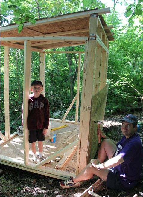 Build a backyard fort or treehouse #100summerdays