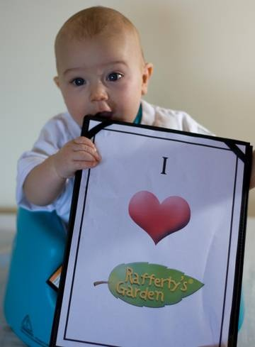 Kai is a massive fan of Rafferty's Garden Babu Food : can you tell??    www.raffertysgarden.com    #RaffertysGarden #Babies #BabyFood
