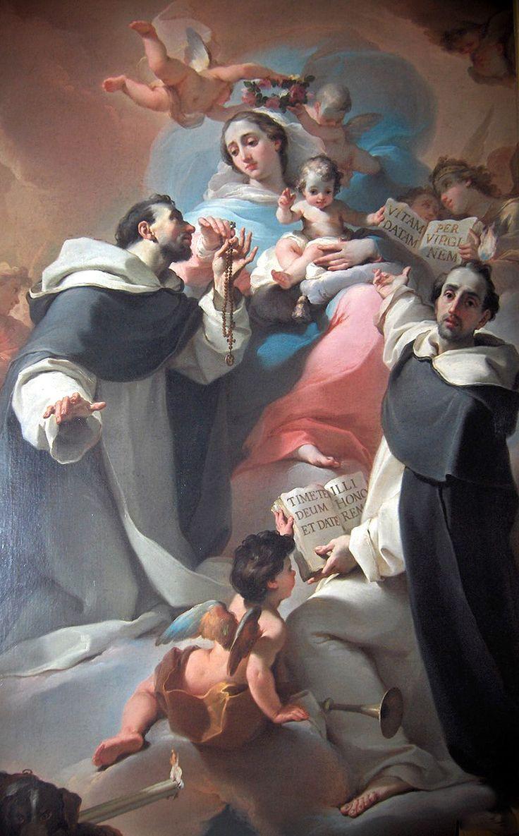 """Madonna with Child, Saint Dominic and Vincent Ferrer  Ubaldo Gandolfi –1773  """