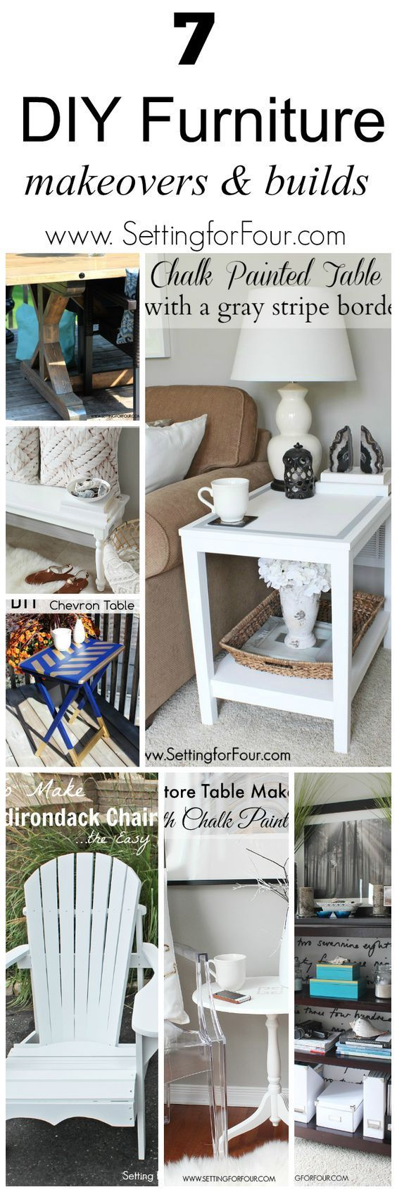 7 Beautiful DIY Furniture Makeovers and Builds. Save money and build your own furniture and refresh dated pieces.