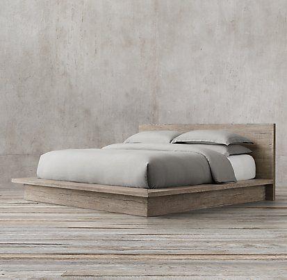 Reclaimed Russian Oak Platform Bedroom Collection | Restoration Hardware