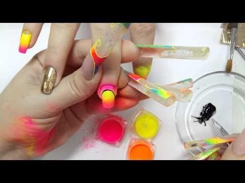 """Дизайн ногтей """"Розы по мокрому"""". Вас 20.000! - YouTube"""