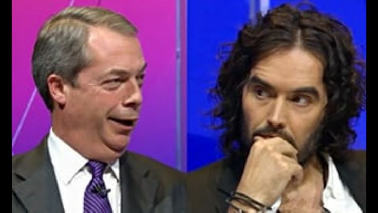 Watch as Nigel Farage OBLITERATES Russell Brand on immigration debate