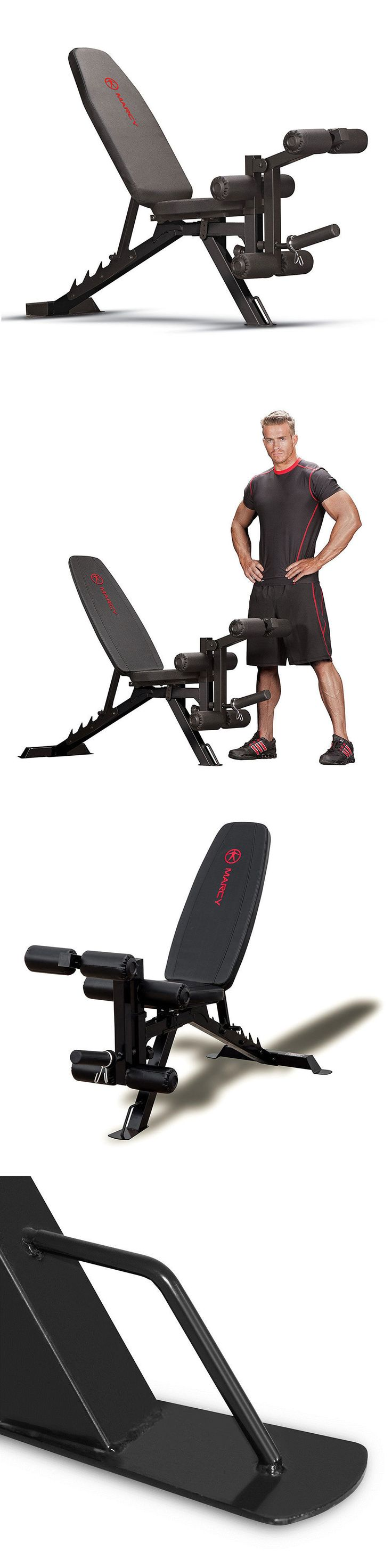 Benches 15281: Marcy Deluxe Utility Weight Bench Sb-350 Flat Incline Decline Adjustable Folds -> BUY IT NOW ONLY: $118.99 on eBay!