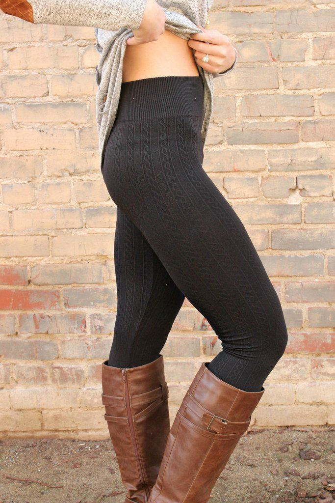 If you're a lover of all things cable knit, then these leggings are begging to be in your closet. Think traditional leggings, with a cozy cable knit throughout! Made of a brushed and blended fabric, t