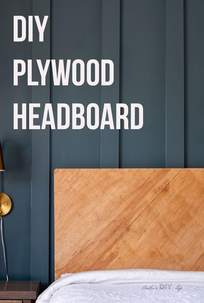 Diy Plywood Headboard Plywood Headboard How To Make Headboard