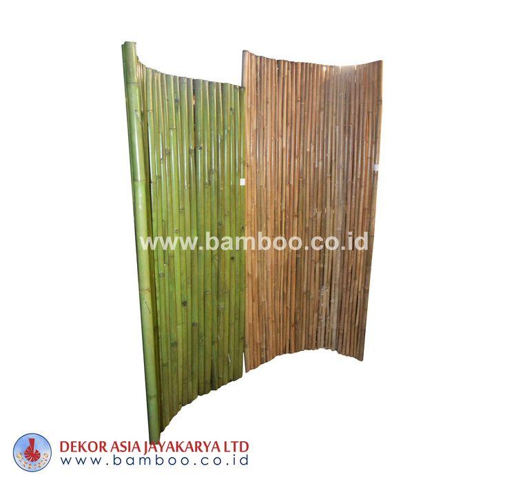 Bamboo Fence Green Natural Pol