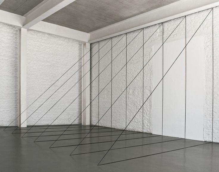 fred Sandback untitled sculptural study