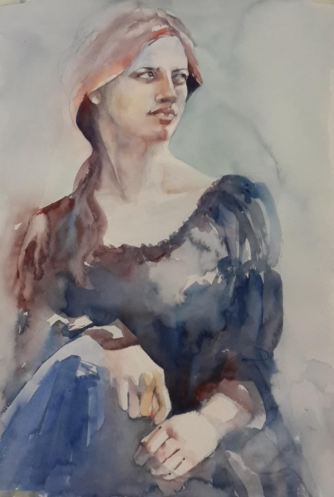 Here is the latest version from Anariel' s Forest Witchcraft #watercolor #watercolour #portrait