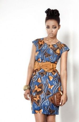batik dress with smashing belt