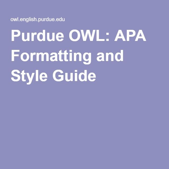 Apa guide to writing research papers