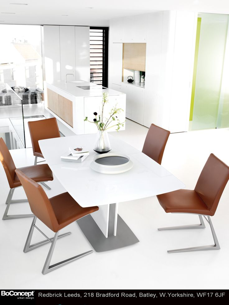 Brown dining room chairs in this mainly white dining room add a nice  contrast to the very clean look 89 best 2014 Collection images on Pinterest   Yorkshire  Room and  . Dining Room Furniture Stores Yorkshire. Home Design Ideas