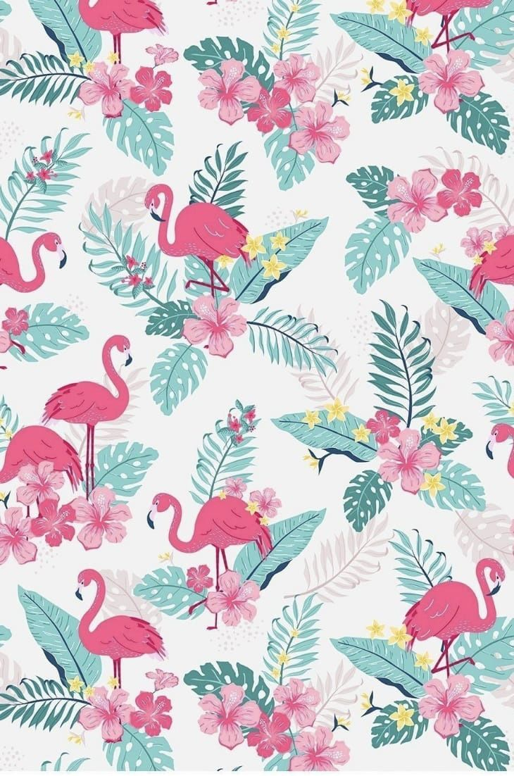 Most Easy Anime Wallpaper Iphone Pattern Print Tropical Illustration Flower Illustration Flamingo Wallpaper