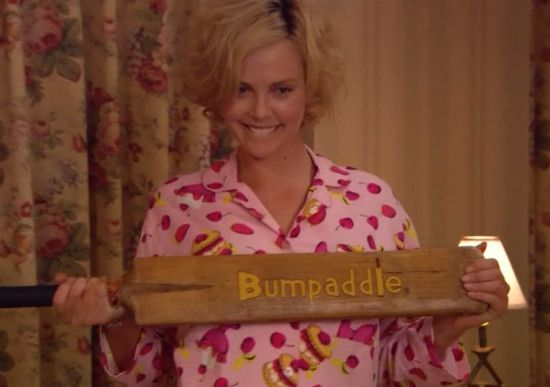 "Charlize Theron and the ""Bumpaddle"" from Arrested Development."