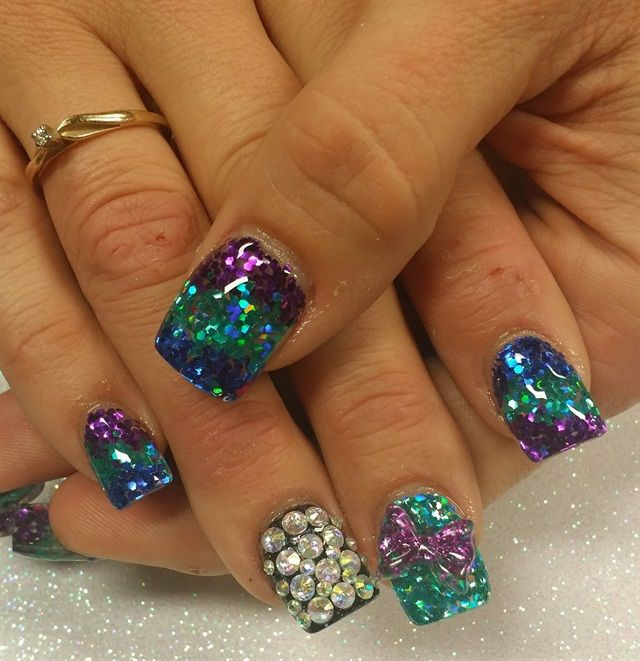 46 best Mardi Gras Nail Art images on Pinterest   Art nails, Fat and ...