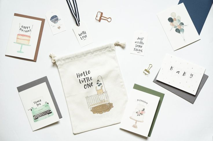 I had a bit of a shopping spree at In the Daylight and picked up some lovely illustrated stationery. Check out the greetings cards and gift bags I picked up