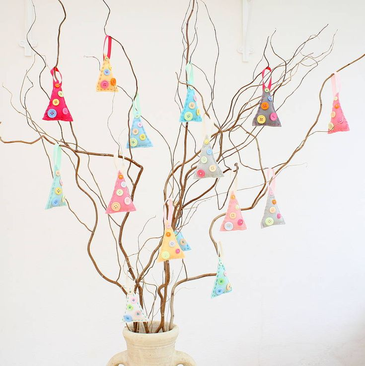Make your own felt christmas tree decorations for How to make your own ornaments ideas