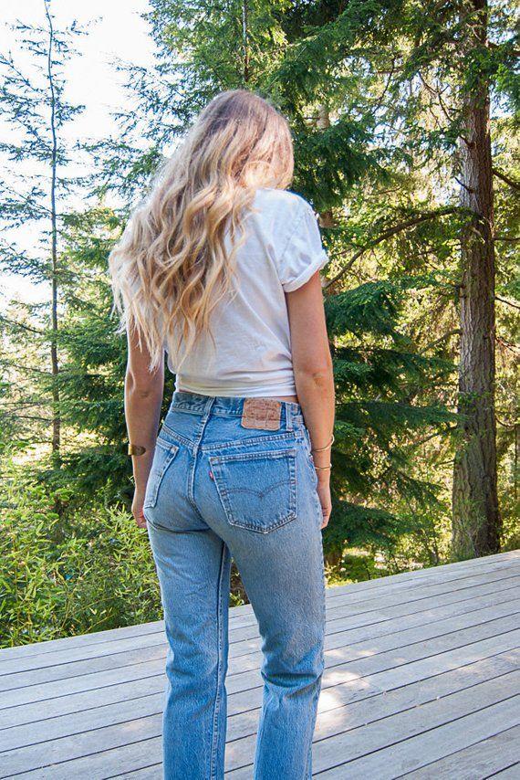 44d1b2de835 Levi's 501 jeans, Womens 29 30 Waist vintage levis jeans, 90s Grunge high  waisted jeans, Boho Distressed Boyfriend jeans, Mom Jeans