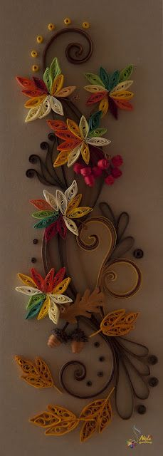 Quilled Fall Garland ~ Neli Quilling Art Probably too much work for a large group of 150, but oh so pretty.