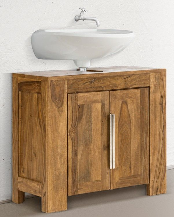 Die besten 25 waschbeckenunterschrank holz ideen auf for Badezimmer unterschrank holz