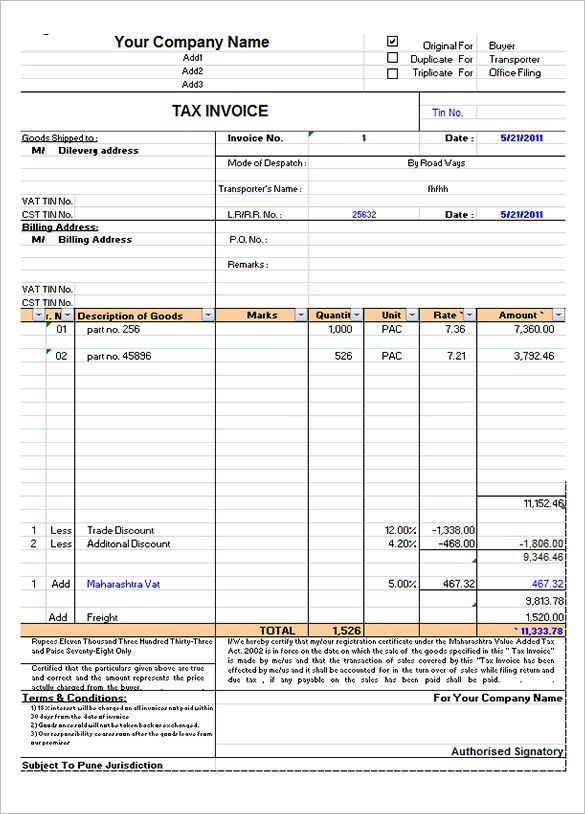 invoice format in excel - Google Search in 2020   Invoice ...