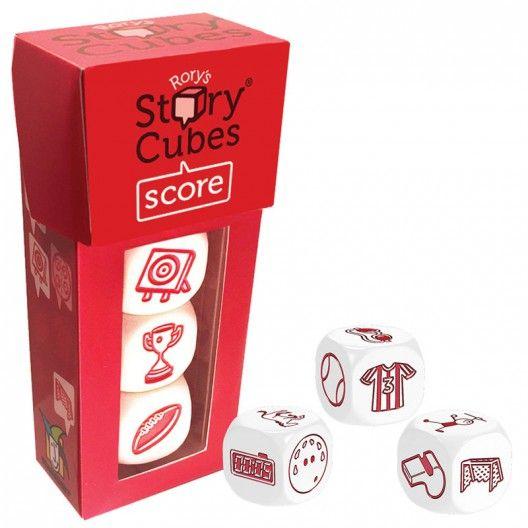 Comprar extension del auténtico juego de dados Rory's Story Cubes con tres dados con imagenes muy deportivas para inventar historias de Asmodee STOex04ML online en kinuma.com. 3 dados con 6 dibujos cada uno permiten crear historias dinámicas solas o en combinacion con los originales set de 9 dados. Todo comienza con erase una vez...