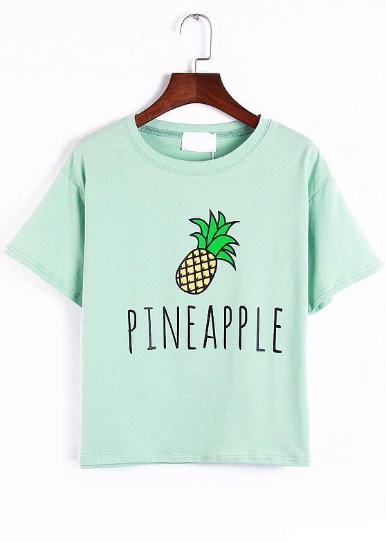camiseta piña-verde 9.76