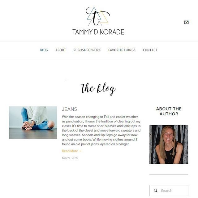 New client release today! Check out Tammy Korade's blog (she's an amazing writer!) at tdkblog.com and in my portfolio on kellimfischer.com  #webdesign #blogdesign #blogger #freelance #risingtidesociety