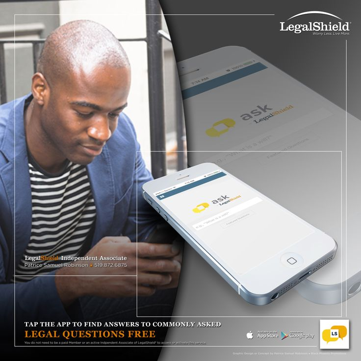 Free Complimentary App!!! If You've Got Questions, We've Got Answers!!! Have you ever needed a quick answer to a legal question? With Ask LegalShield, you now have access to over 1,200 commonly asked Legal Questions and Answers right in your pocket, and it's Free!!! So Please download your Free App to your mobile device.