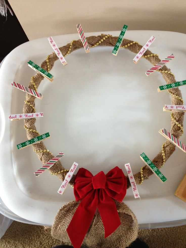 DIY Christmas Card Wreath Crafts Pinterest