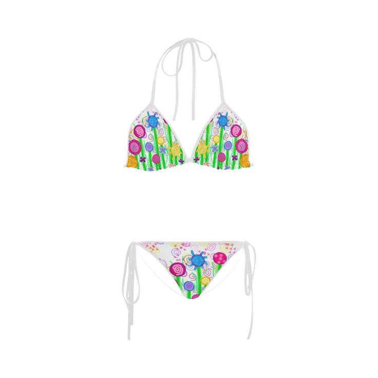 Magical Flowers Custom Bikini Swimsuit