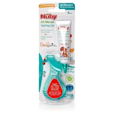 Nuby All Natural Teething Gel with Gum Massager
