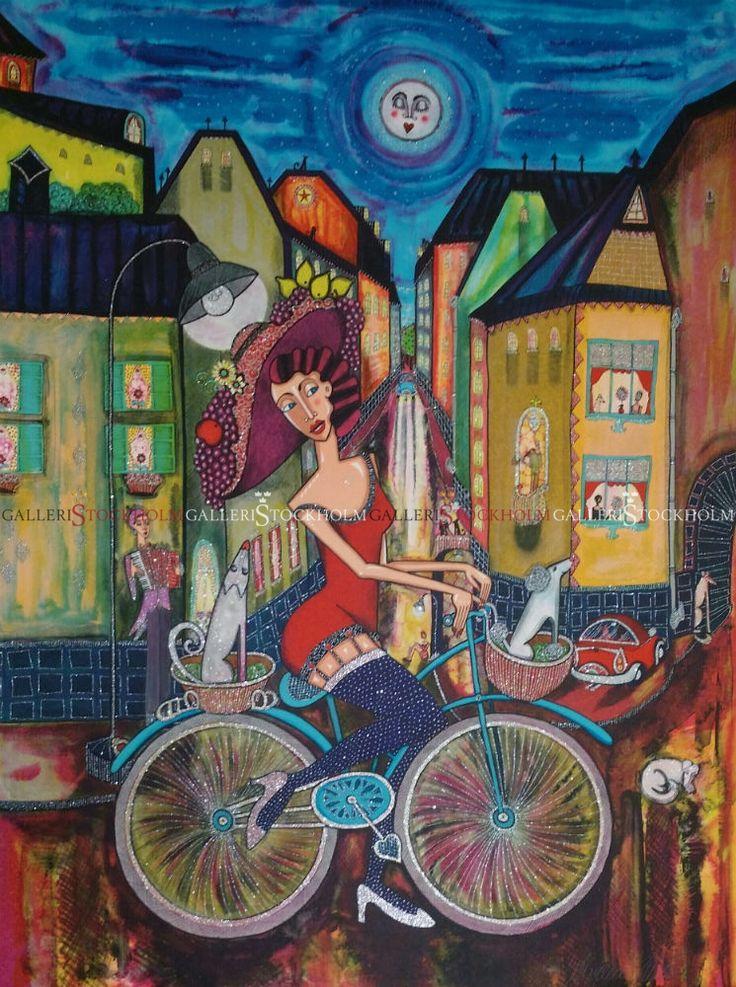 Angelica Wiik - Litografi - Frihet