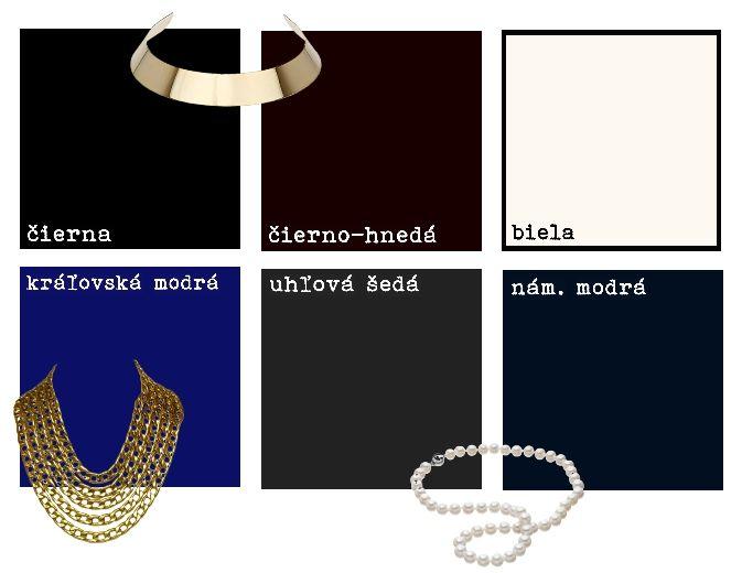 Farby - Neutrálne farby pre kontrastný typ