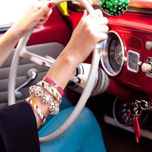 kate spadeStacked Bracelets, Classic Cars, Vintage Cars, Cars Interiors, Roads Trips, Old Cars, Arm Candies, Kate Spade, Arm Parties
