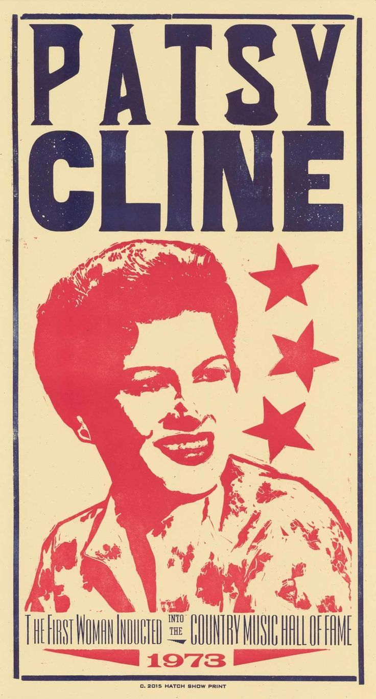 Patsy Cline Poster Country Music Art Music Artwork Vintage Concert Posters