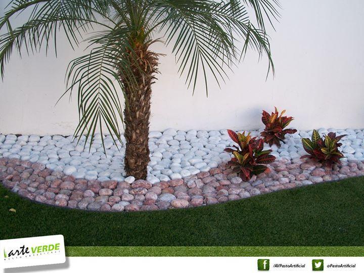 Pasto sintetico colores de piedra dise o jard n pinterest - Disenos de jardines con piedras blancas ...