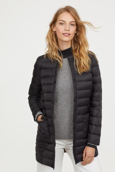 6582470d8d495 Lightweight Down Coat | White | Coat, Down coat, Jackets