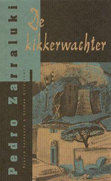 Pedro Zarraluki: 'De kikkerwachter' / 'El Responsable de las Ranas' Uitgegeven in 1993 door Menken Kasander & Wigman Uitgevers -ISBN 90-74622-02-X - Stofomslag vanpakpapier en bedrukt in zwart en metallic-groen -Illustratie: Laura de Moor –Boekomslagontwerp voor serie (6delen): Erik Cox