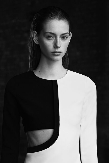 Colourblock Dress - graphic minimal fashion, minimalist style // David Koma Resort 2016