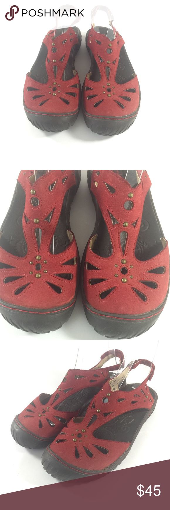 Hamburg Adventure Designs Clementine Sandals 7.5 Up for sale is this great pair of Jambu Clementine Sandals! Red leather with cut out detail!  Women's Size 7.5   CONDITION: Good Condition! Minor signs of wear. Jambu Shoes Sandals