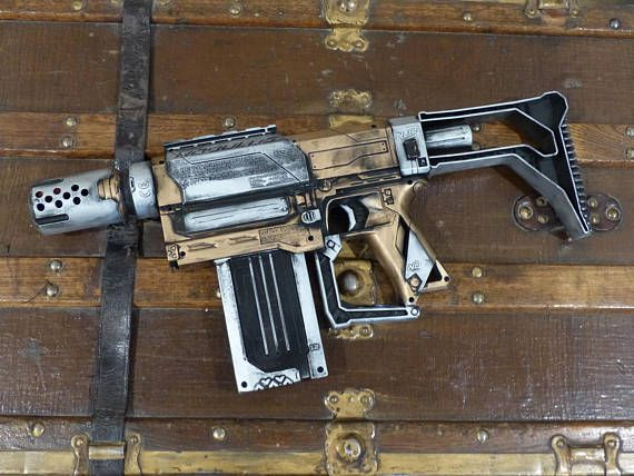 This Epic Nerf gun can be an amazing addition to any costume, the best steampunk gift, a toy, or as the most awesome gun in a Nerf battle. Attached to the gun is a Nerf scope, a dart cartridge, and an adjustable stand. 9.5 inches tall 20.2 inches long