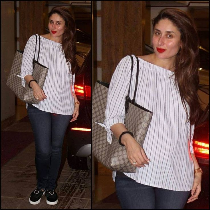 Pick a piece now to upgrade your closet with Kareena Kapoor...!!! #KareenaKapoor, #White, #Casual