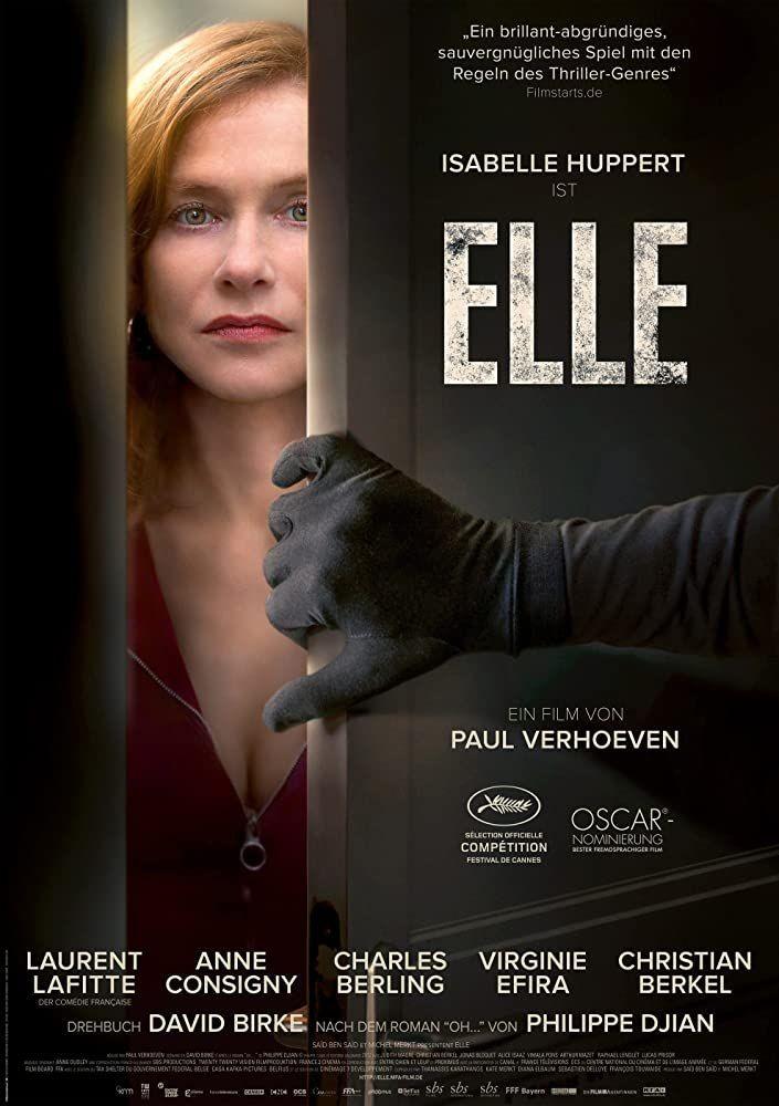 فيلم الجريمة والدراما الفرنسي Elle 2016 مترجم كامل جودة عالية In 2020 Movie Posters Films 2016 Movies