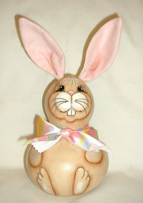 Gourd Easter Bunny  Hand Painted by FromGramsHouse on Etsy, $18.00