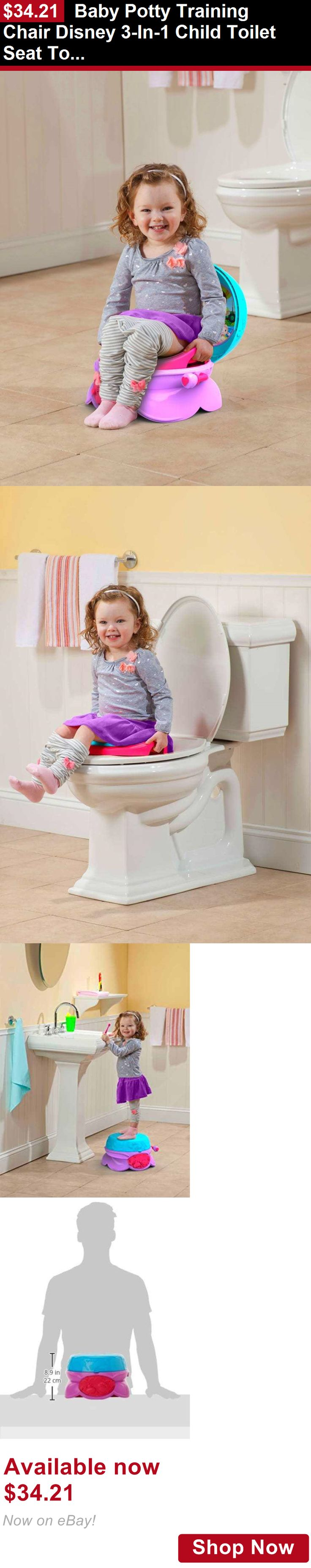 Potty Training: Baby Potty Training Chair Disney 3-In-1 Child Toilet Seat Toddler Step Stool New BUY IT NOW ONLY: $34.21