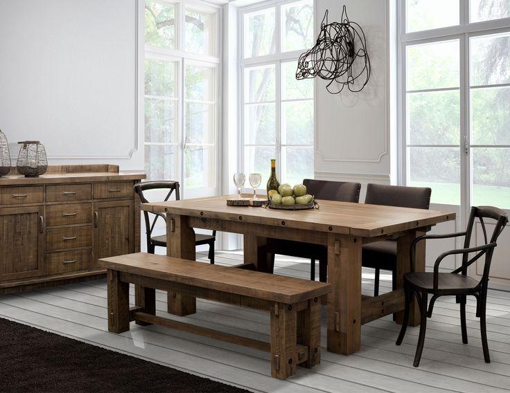 Ensemble de salle à manger de style champêtre en érable. Plusieurs options disponibles. Produits canadien.