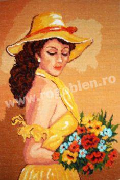 Cod produs 1.04 Fata cu flori Culori: 24 Dimensiune: 18 x 25cm Pret: 43.15 lei
