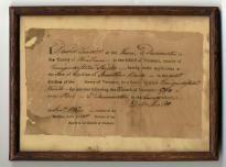 Revolutionary War Era Liquor License - Price Estimate: $200 - $400